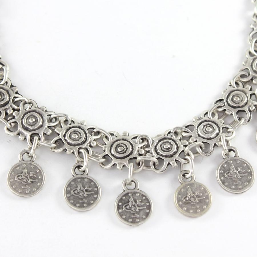 Antik Liralı Boho Halhal Silver