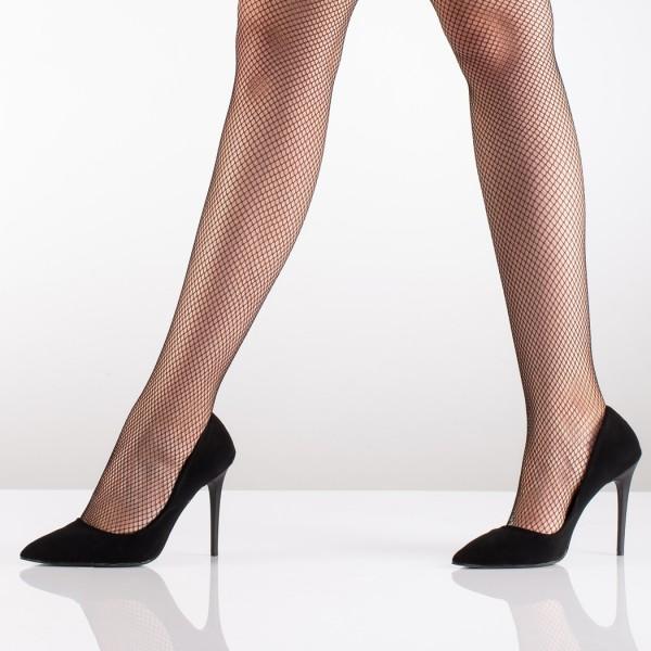Burunsuz Dikişsiz İnce File Desenli Külotlu Çorap Siyah