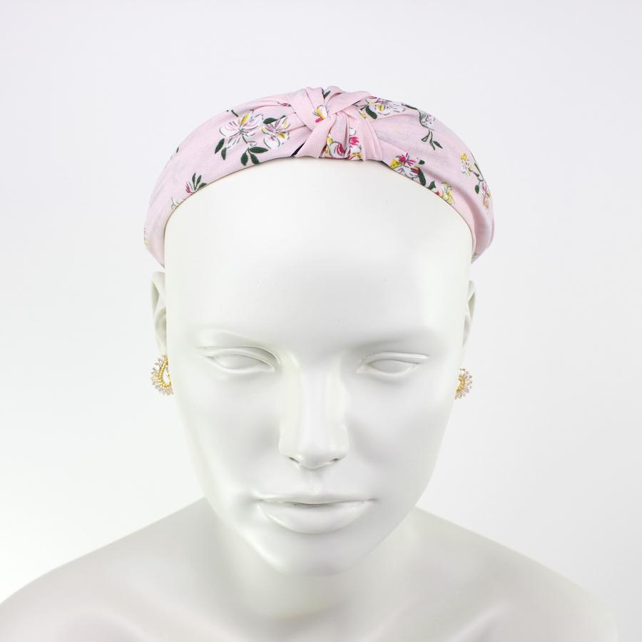 Çiçekli Taç Saç Aksesuarı Pembe