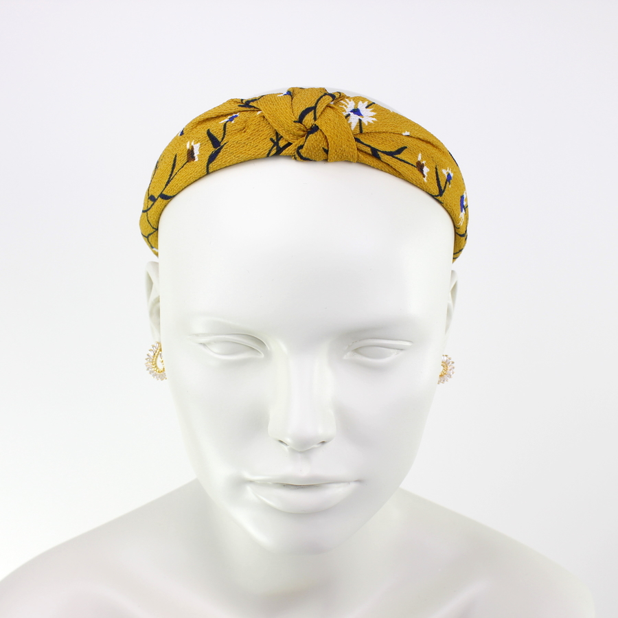 Çiçekli Taç Saç Aksesuarı Sarı