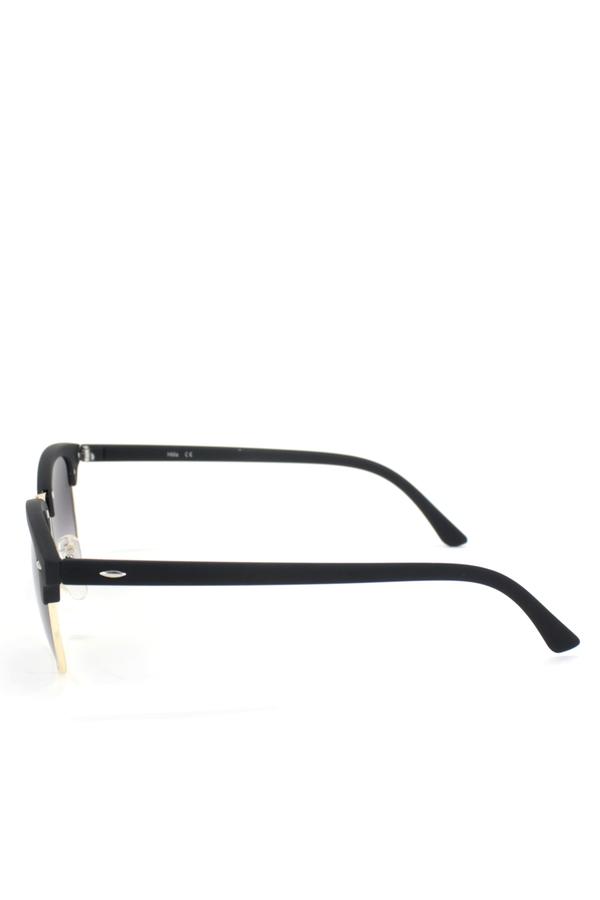 Clubmaster Klasik Retro Unisex Güneş Gözlüğü Gold Mat Siyah
