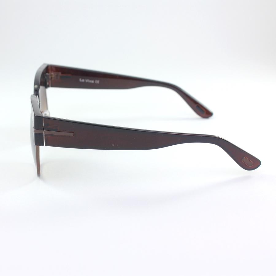 Dakota Degrade Camlı Retro Güneş Gözlüğü Kahverengi