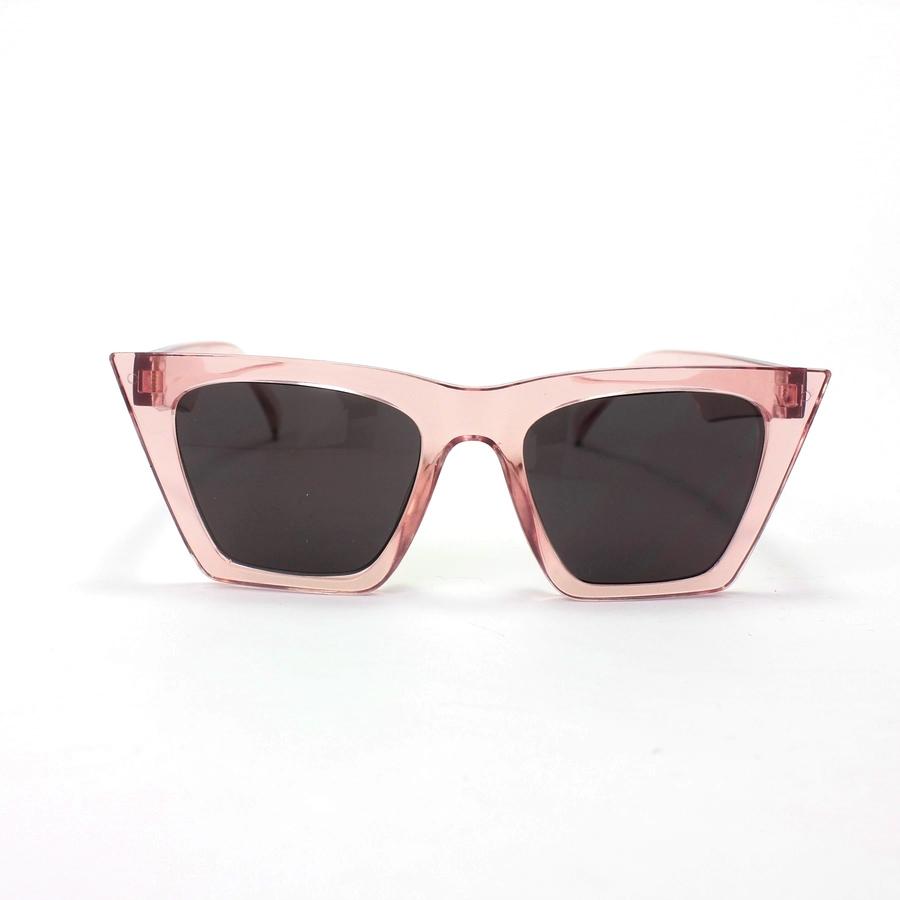 Designer Cat Eye Köşeli Bayan Güneş Gözlüğü Açık Pembe