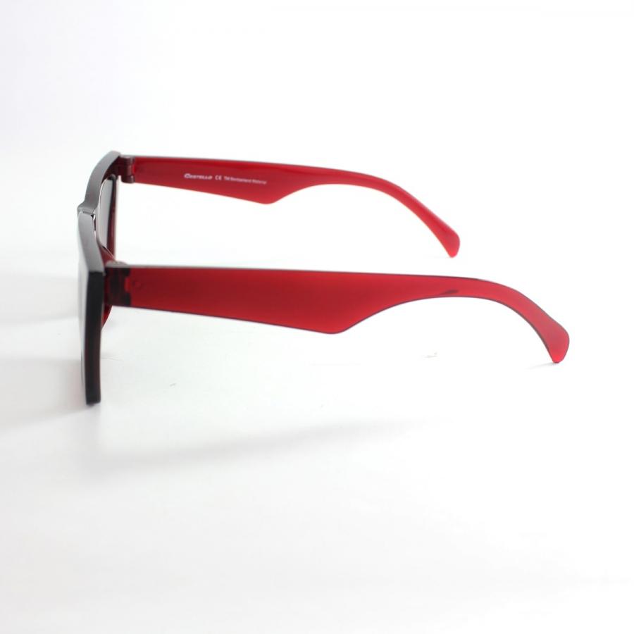 Designer Cat Eye Köşeli Bayan Güneş Gözlüğü Bordo