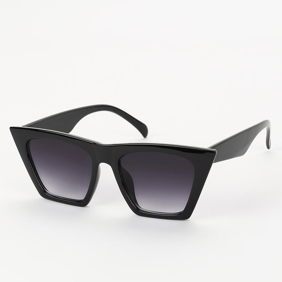 Designer Cat Eye Köşeli Bayan Güneş Gözlüğü Degrade Siyah