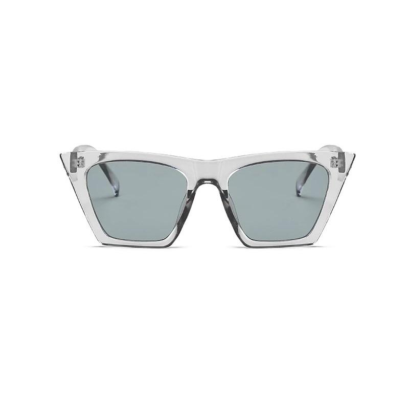 Designer Cat Eye Köşeli Bayan Güneş Gözlüğü Gri