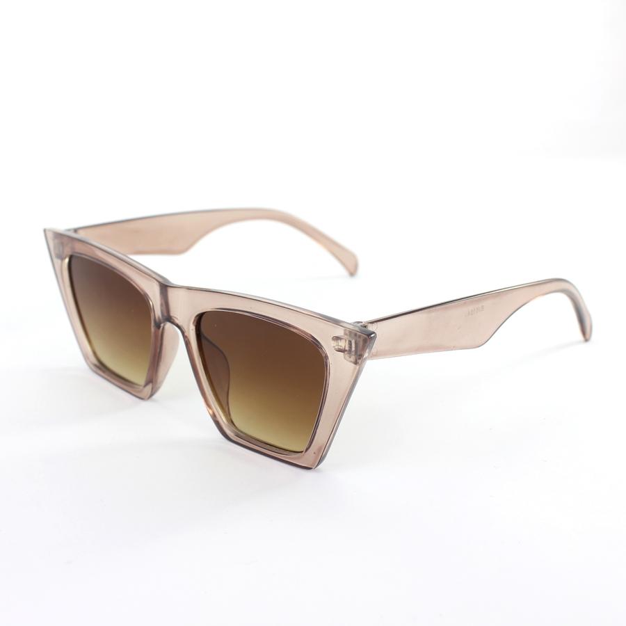 Designer Cat Eye Köşeli Bayan Güneş GözlüğüKahverengi