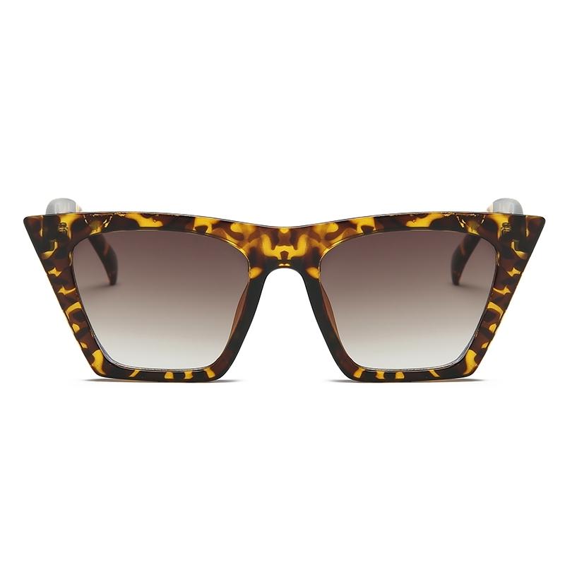 Designer Cat Eye Köşeli Bayan Güneş Gözlüğü Leopar