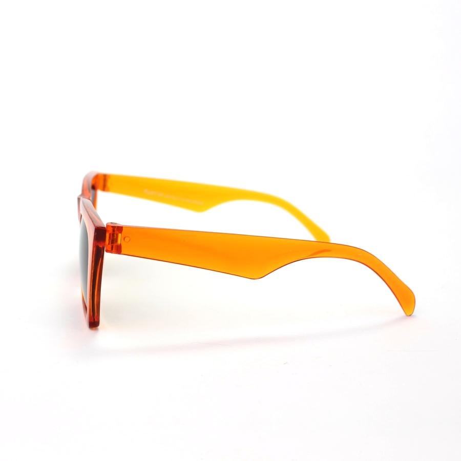 Designer Cat Eye Köşeli Bayan Güneş Gözlüğü Turuncu