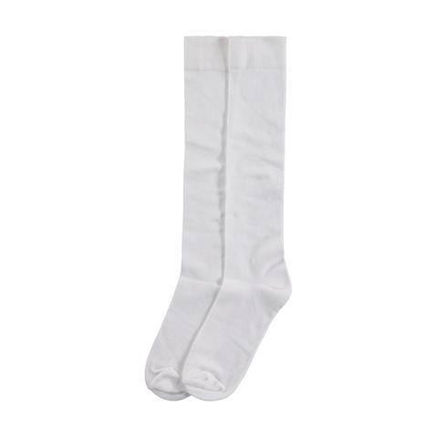 Diz Altı Koton Çorap Beyaz