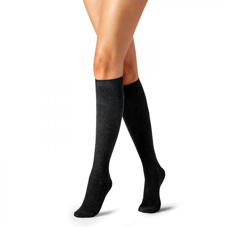 Diz Altı Koton Çorap Füme
