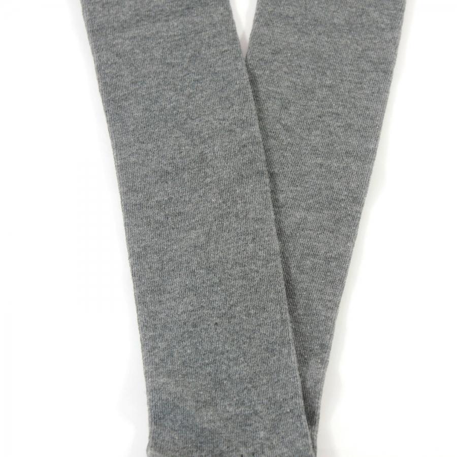 Diz Altı Koton Çorap Gri