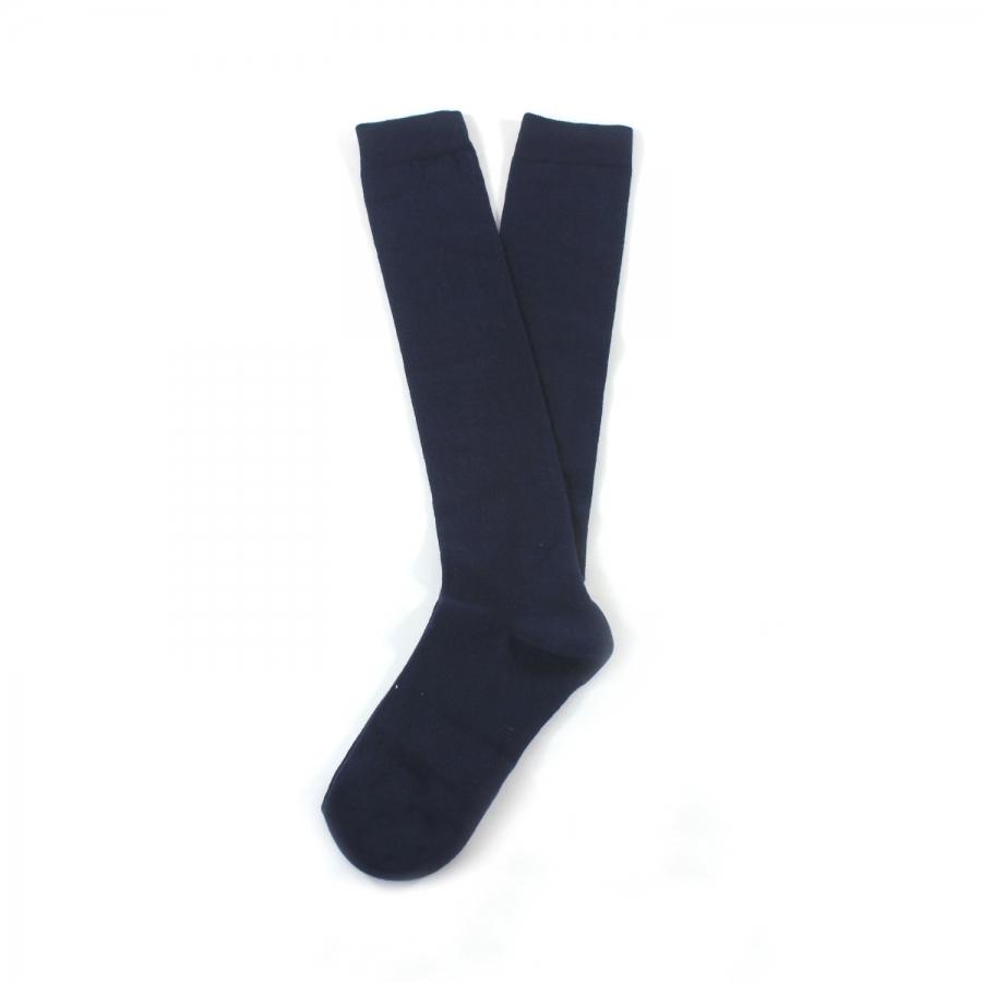 Diz Altı Koton Çorap Lacivert