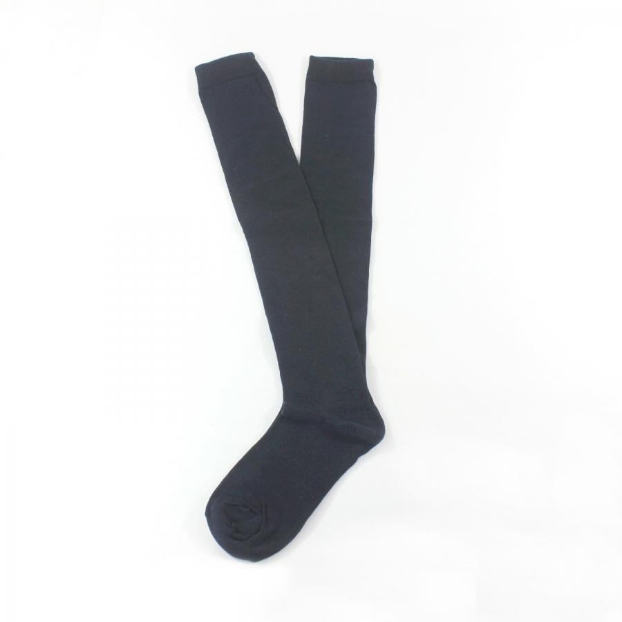 Diz Üstü Koton Çorap Lacivert