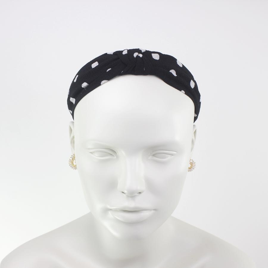 Düğümlü Puanlı Taç Saç Aksesuarı Siyah