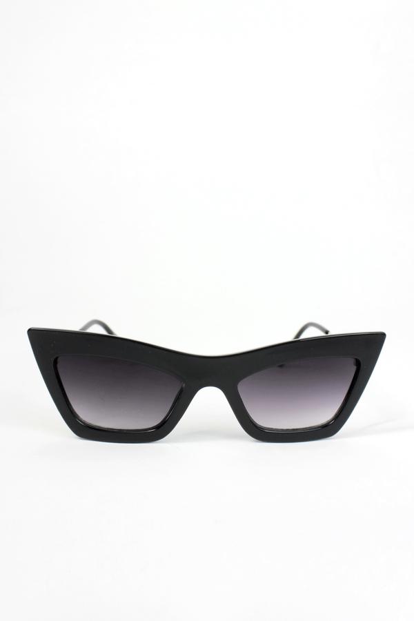 Erica Cat Eye Bayan Güneş Gözlüğü Siyah