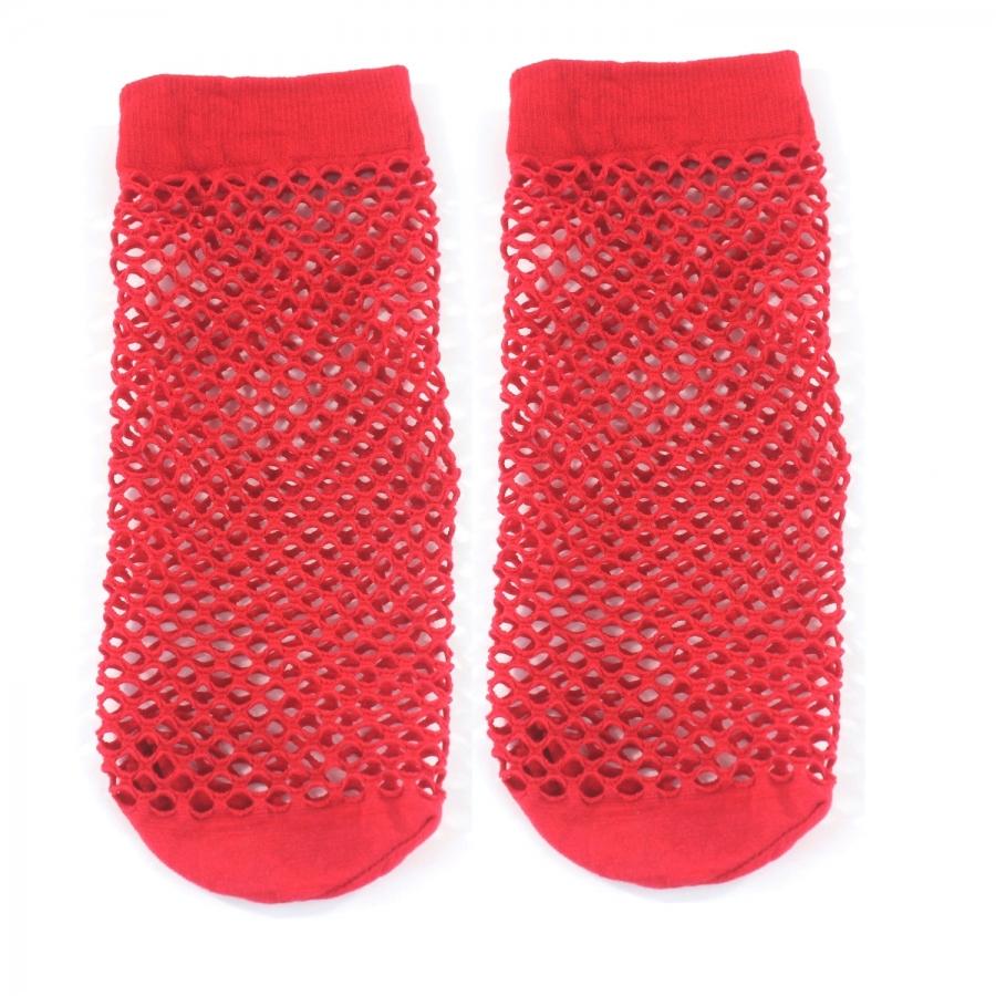 File Kısa Çorap Kırmızı