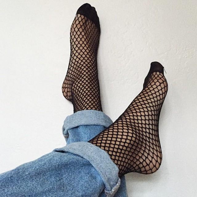 File Kısa Çorap Siyah