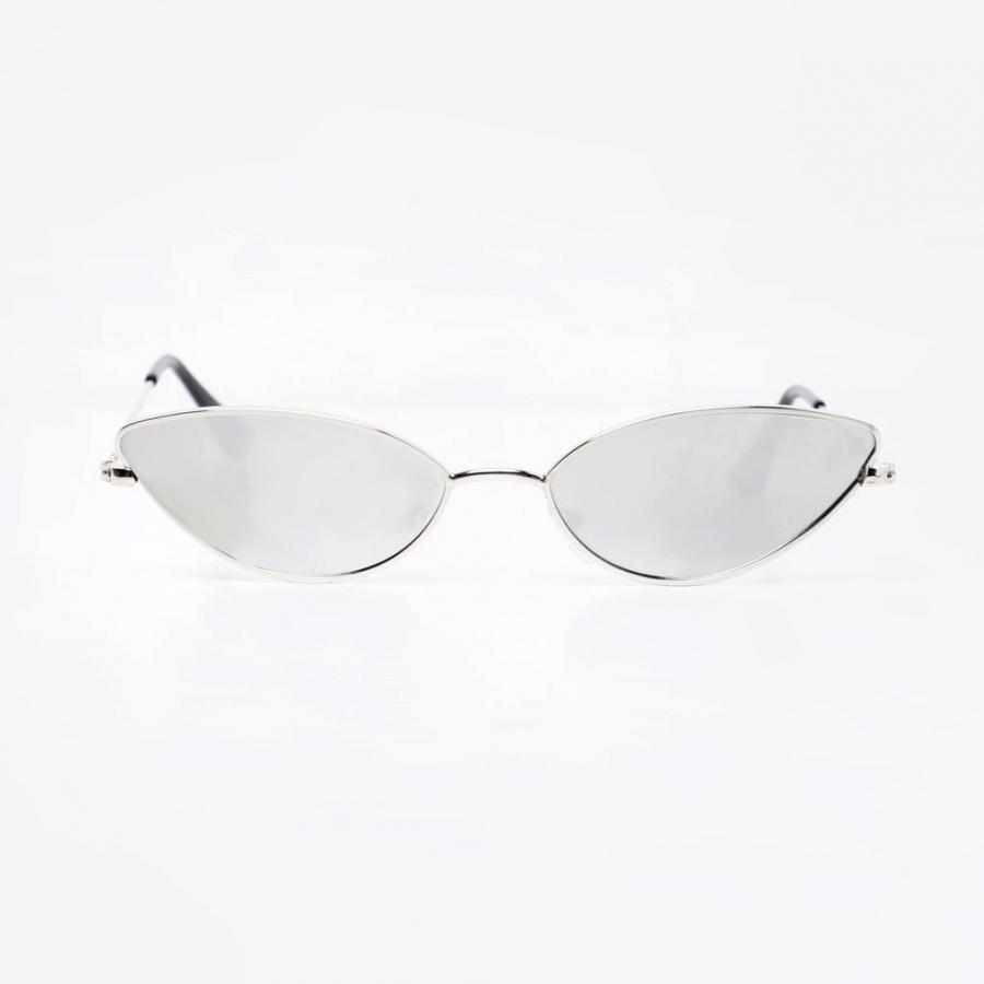 Gentle Silver Çerçeveli Küçük Cat Eye Güneş Gözlüğü Silver Aynalı