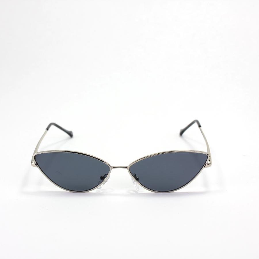 Gentle Silver Çerçeveli Küçük Cat Eye Güneş Gözlüğü Siyah