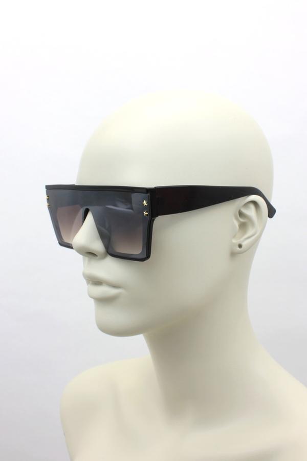 Hindsight Büyük Kare Unisex Güneş Gözlüğü Kahverengi
