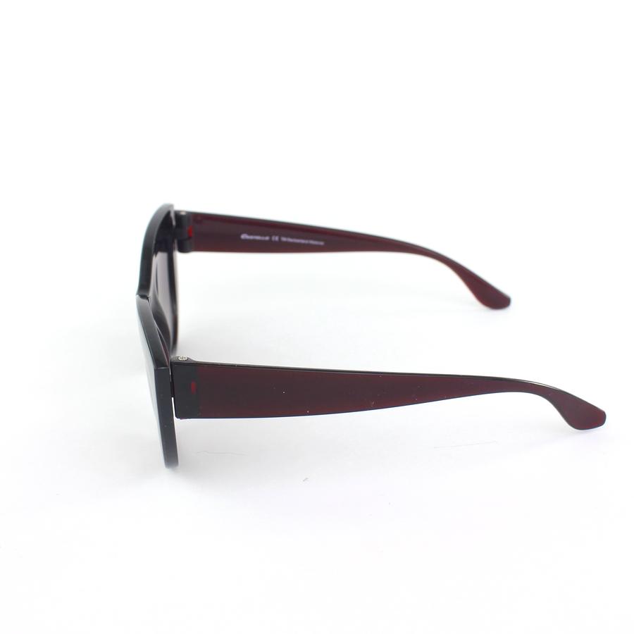 Kalın Çerçeveli Tasarım Cat Eye Bayan Güneş Gözlüğü Bordo