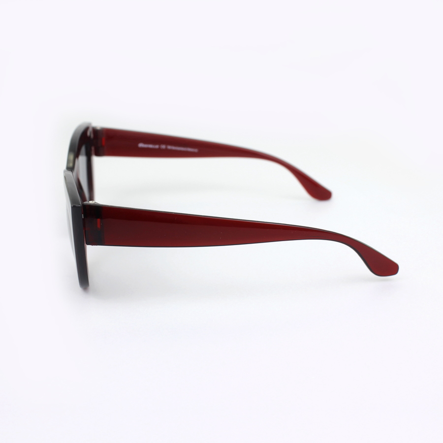 Kalın Çerçeveli Tasarım Cat Eye Bayan Güneş GözlüğüBordo