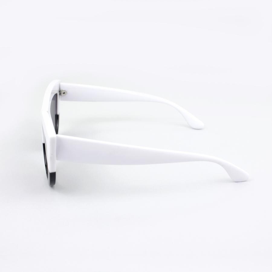 Kalın Çerçeveli Tasarım Cat Eye Bayan Güneş GözlüğüSiyah Beyaz