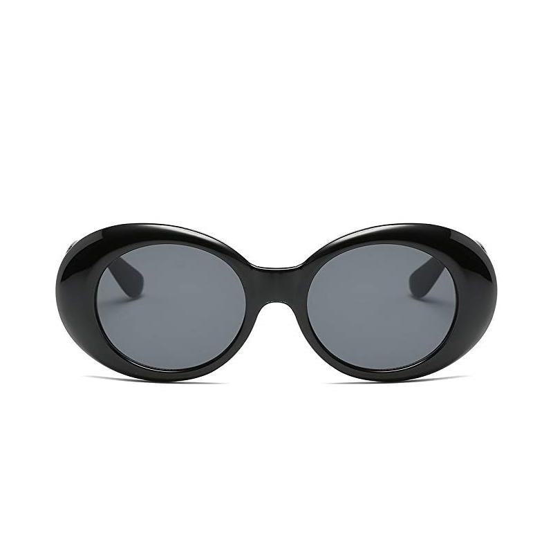 Kurt Cobain Retro Yuvarlak Güneş Gözlüğü Siyah