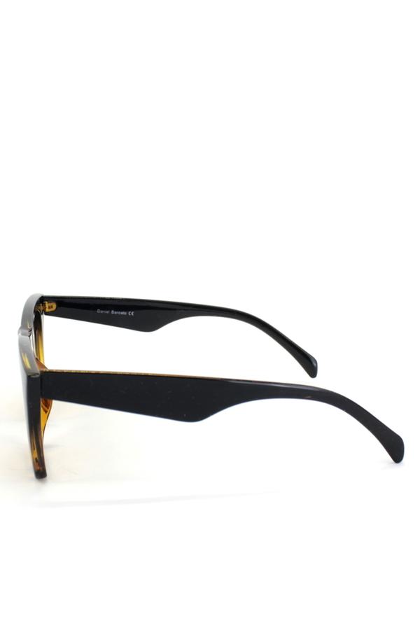 Lüks Designer Cat Eye Köşeli Bayan Güneş Gözlüğü Leopar Siyah
