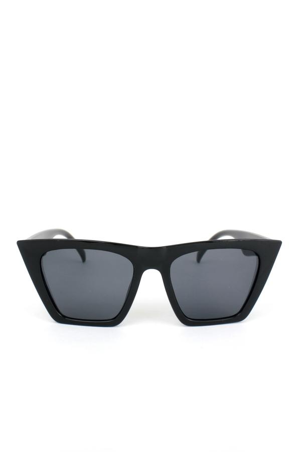 Lüks Designer Cat Eye Köşeli Bayan Güneş Gözlüğü Siyah