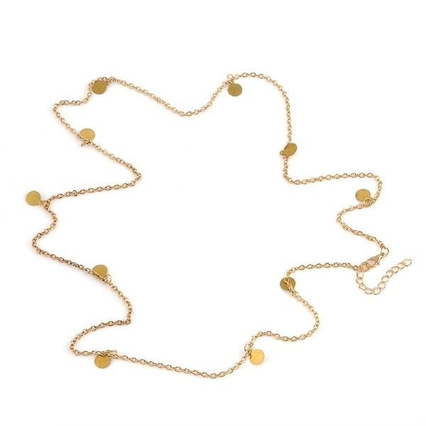 Made For Sun Pullu Bel Zinciri Vücut Takısı Gold