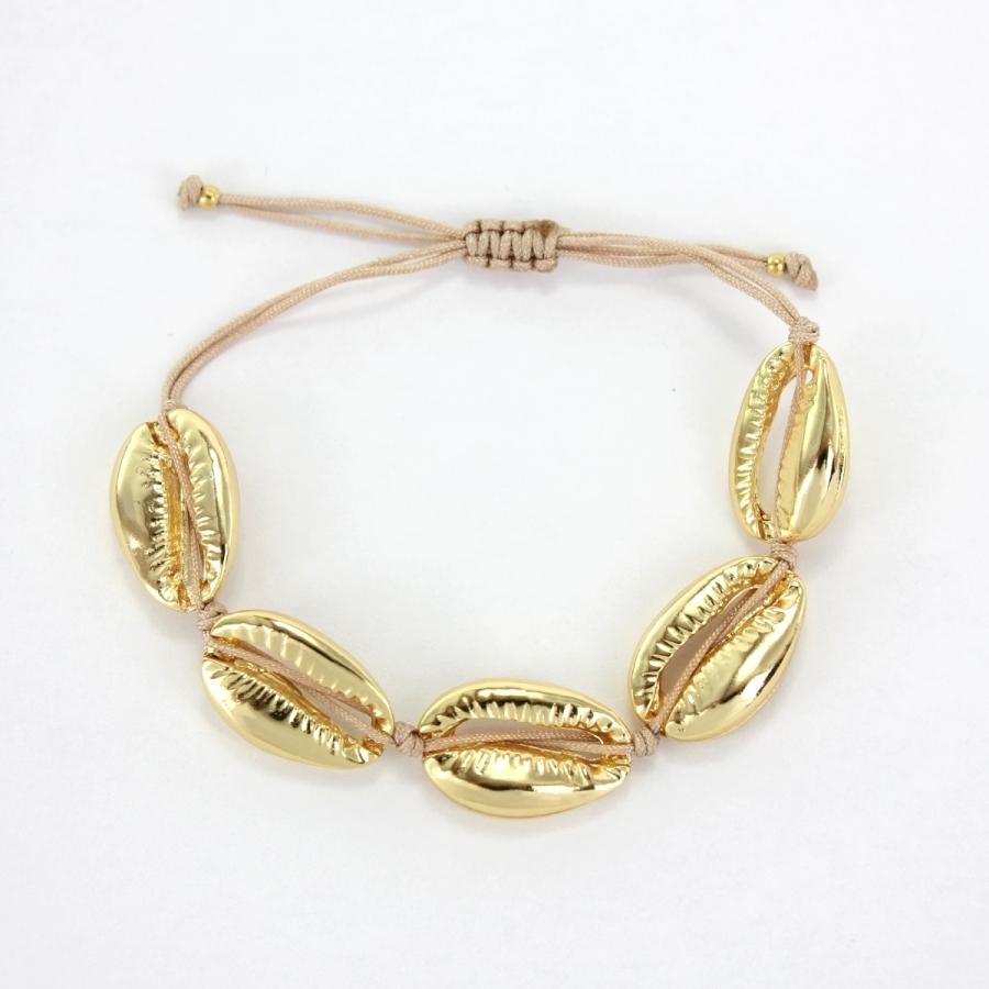 Metal Deniz Kabuğu Bileklik Gold