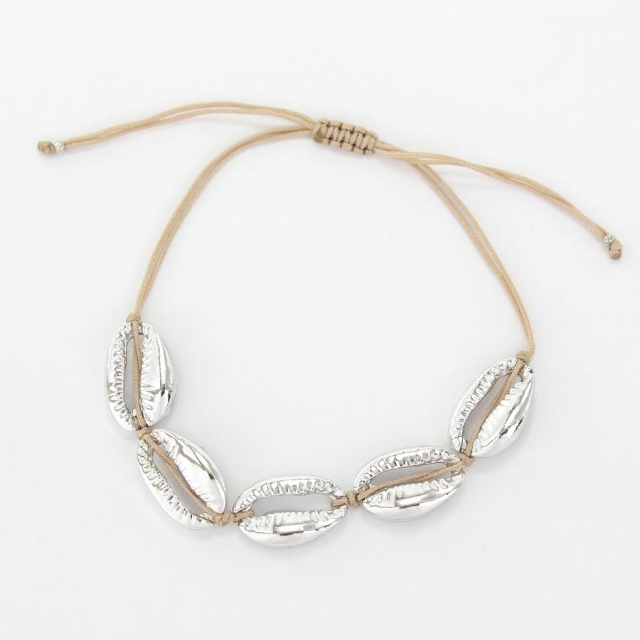 Metal Deniz Kabuğu Bileklik Silver