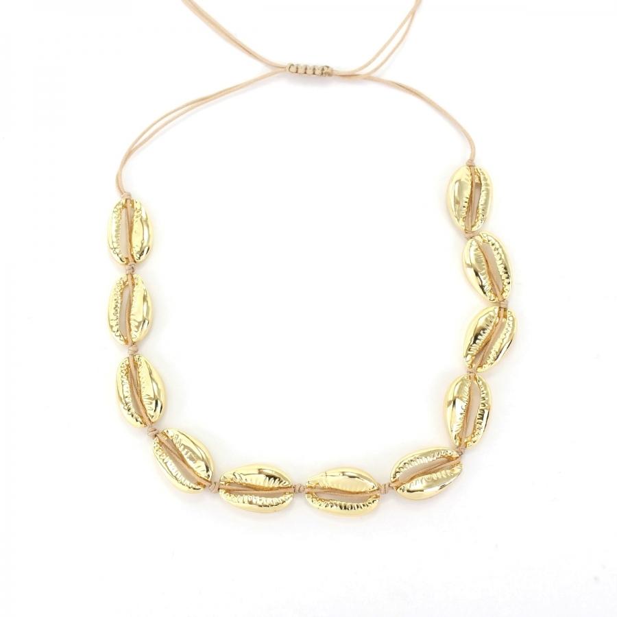 Metal Deniz Kabuğu Kolye Gold