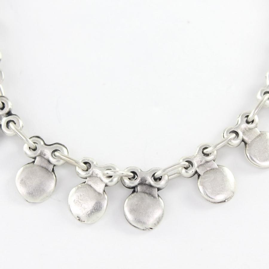 Metal Yuvarlak Sallantılı Boho Halhal Silver
