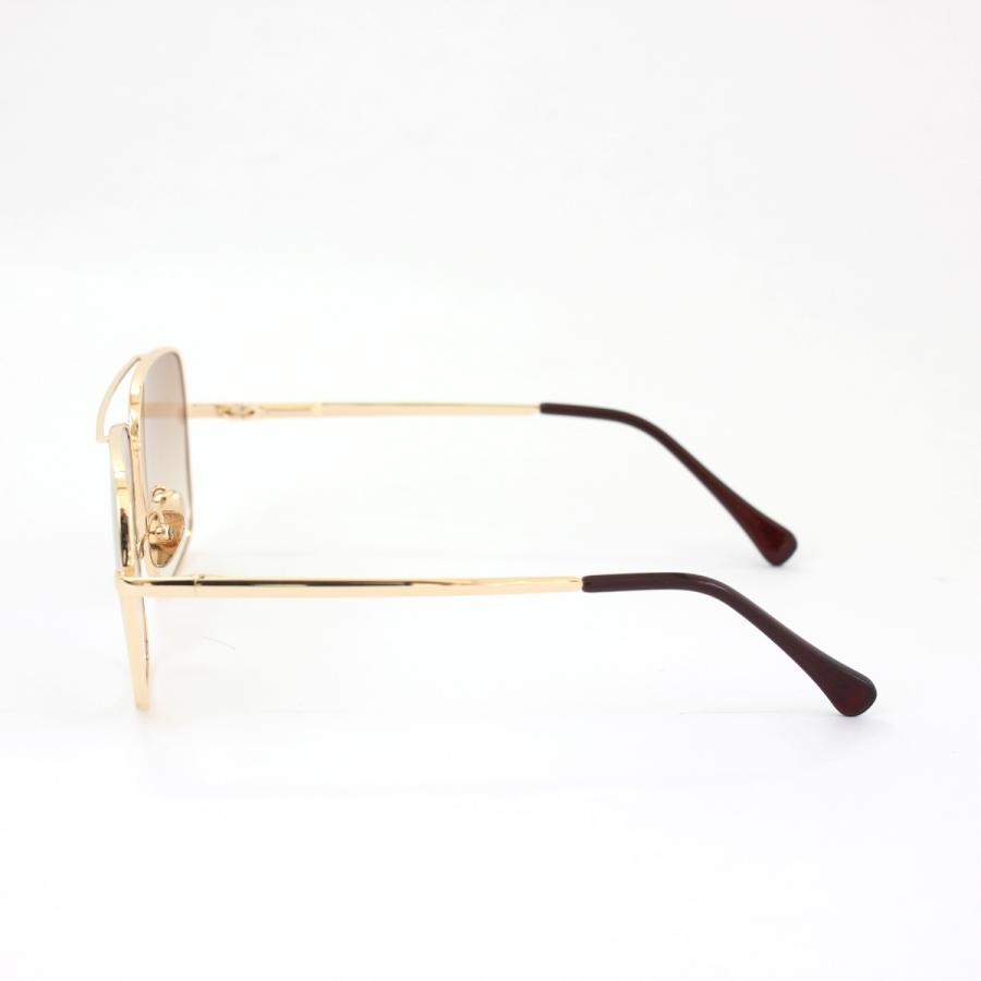 Mexx Gold Metal Çerçeveli Kahverengi Degrade Camlı Kare Unisex Güneş Gözlüğü