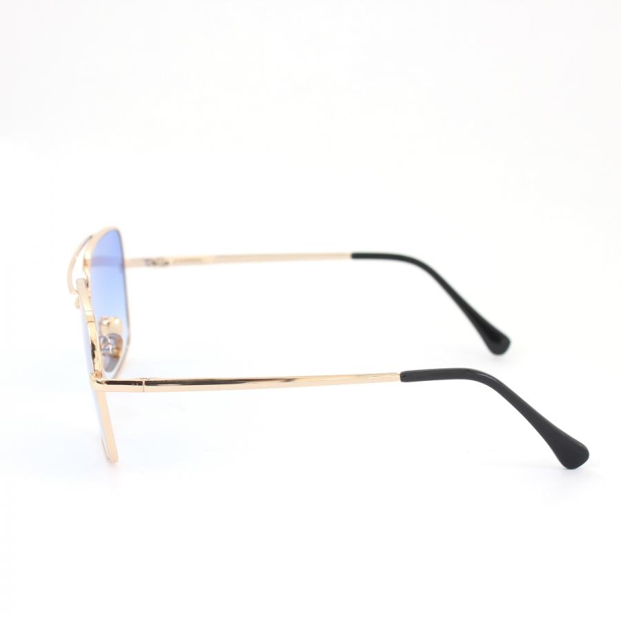 Mexx Gold Metal Çerçeveli Mavi Degrade Camlı Kare Unisex Güneş Gözlüğü