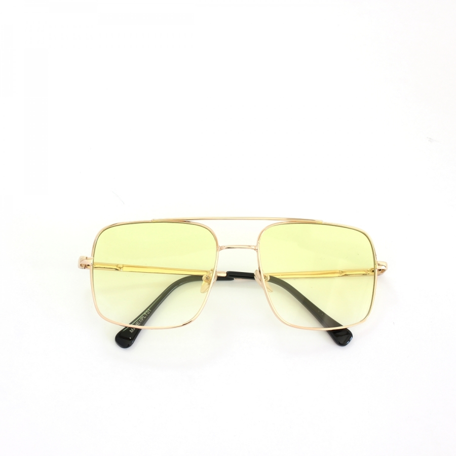 Mexx Gold Metal Çerçeveli Sarı Degrade Camlı Kare Unisex Güneş Gözlüğü