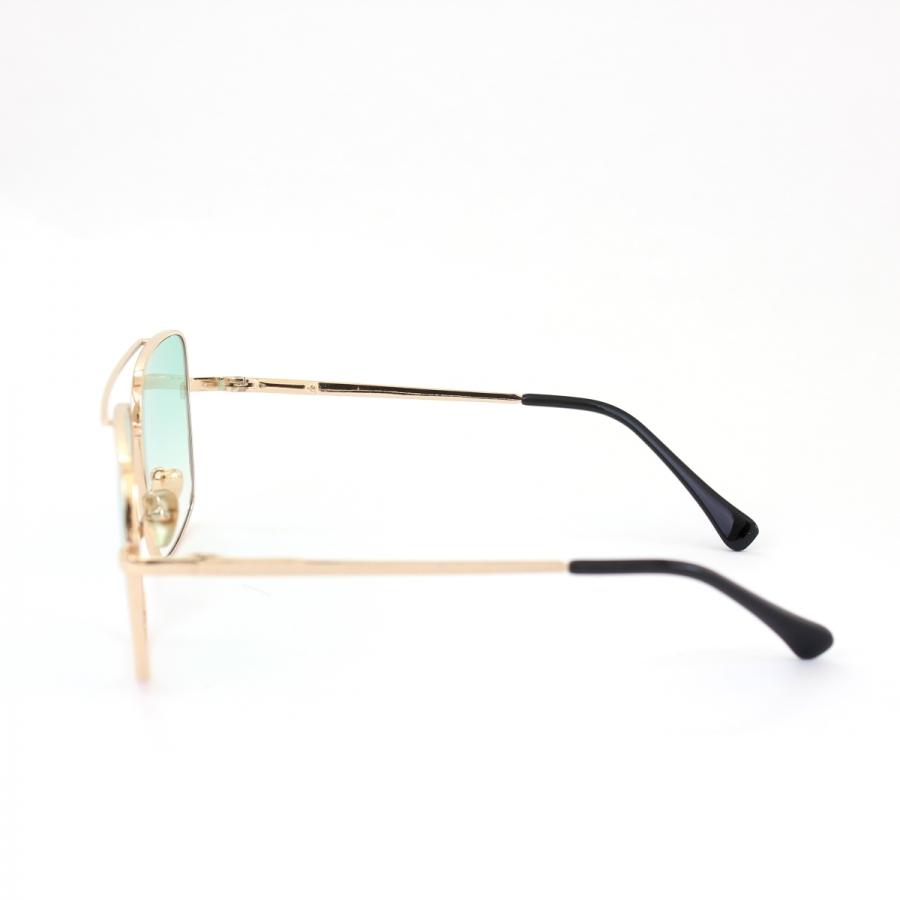Mexx Gold Metal Çerçeveli Yeşil Degrade Camlı Kare Unisex Güneş Gözlüğü