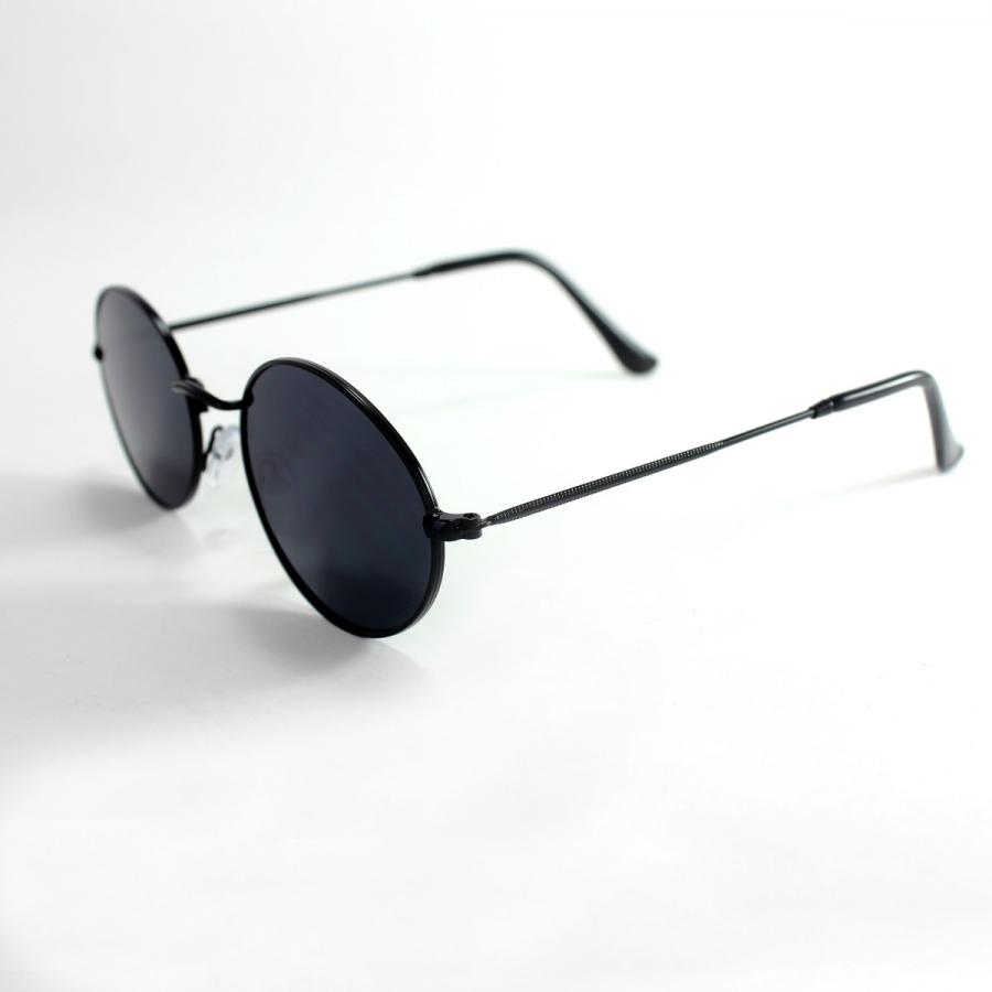 Milo Siyah Metal Çerçeveli Yuvarlak Güneş Gözlüğü Siyah