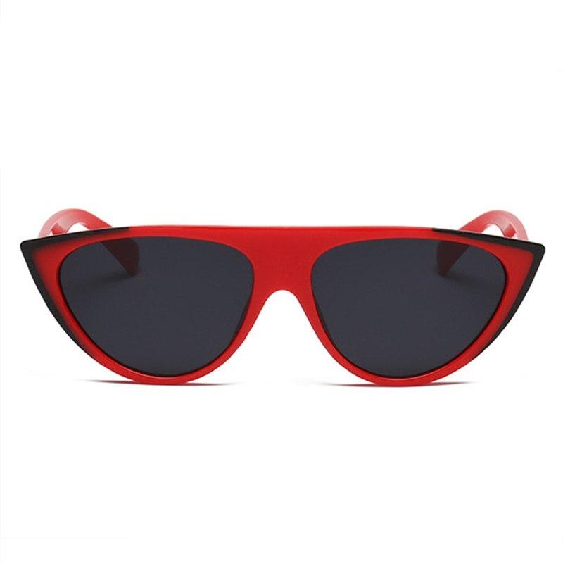 Miss J Siyah Köşeli Cat Eye Güneş Gözlüğü Kırmızı