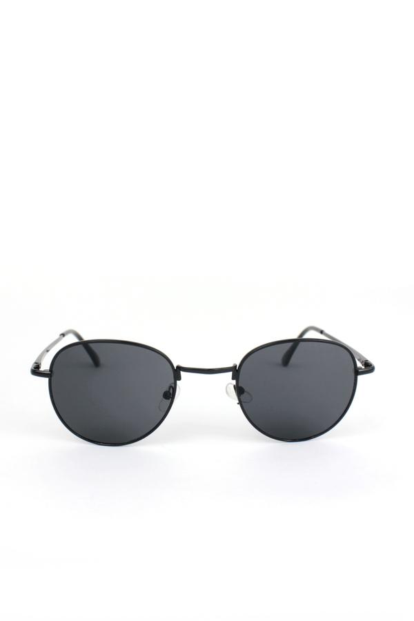 My Best Siyah Metal Çerçeveli Küçük Yuvarlak Unisex Güneş Gözlüğü Siyah