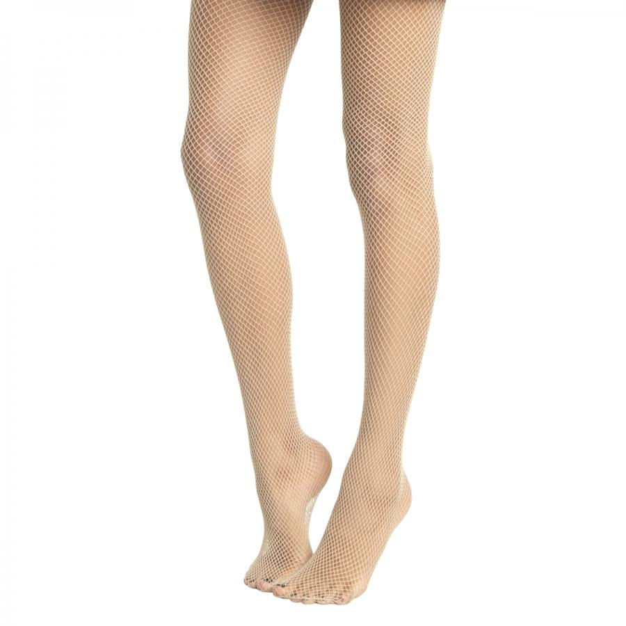 New Küçük File Külotlu Çorap Ten Rengi