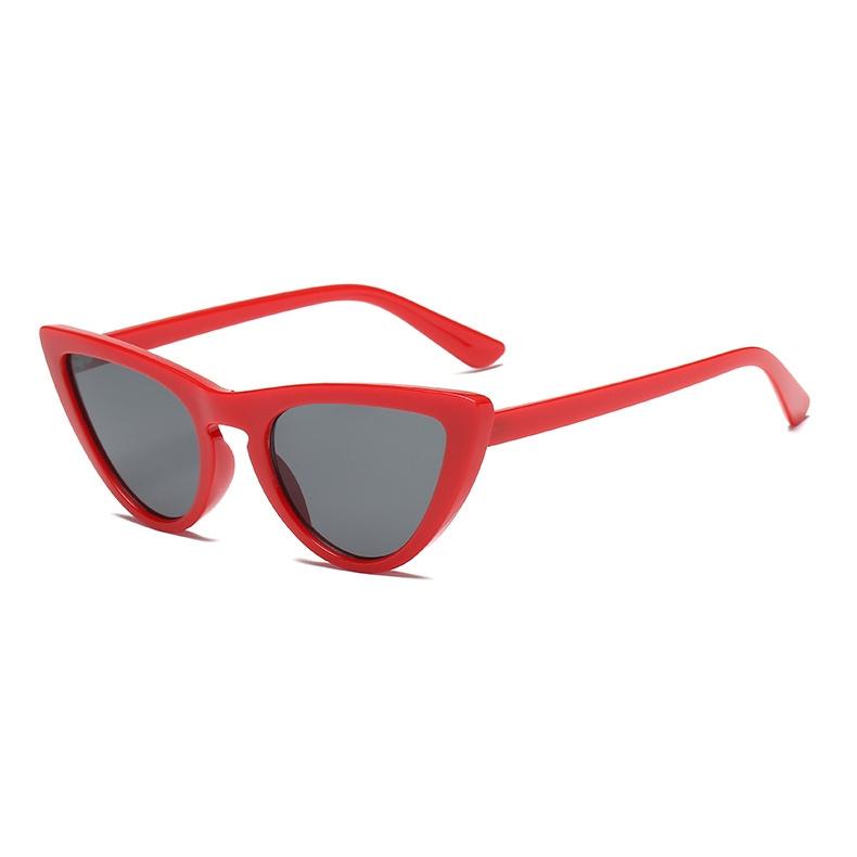 New Retro Cat Eye Güneş Gözlüğü Kırmızı