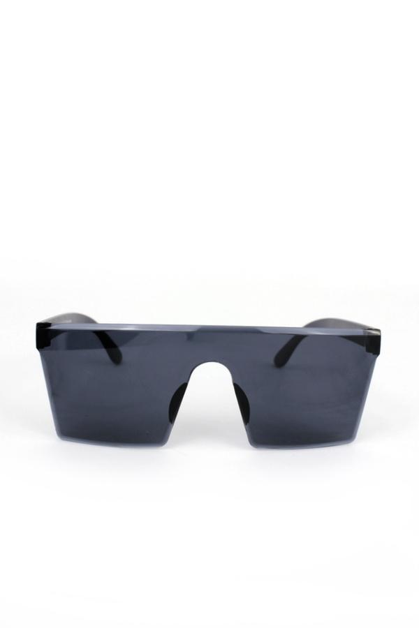 Newlook Büyük Kare Unisex Güneş Gözlüğü Siyah