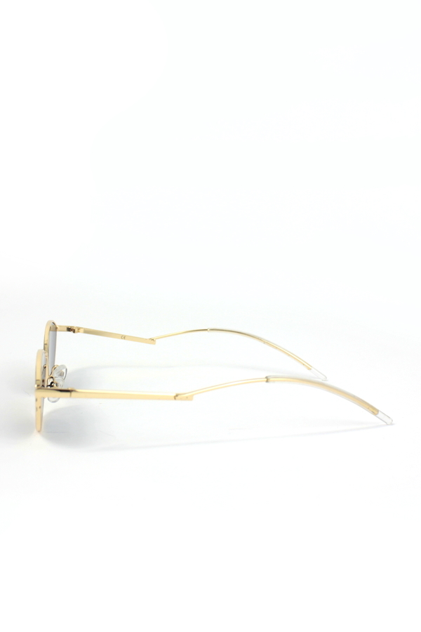 Poxi Gold Metal Çerçeveli Küçük Cat Eye Güneş Gözlüğü Siyah