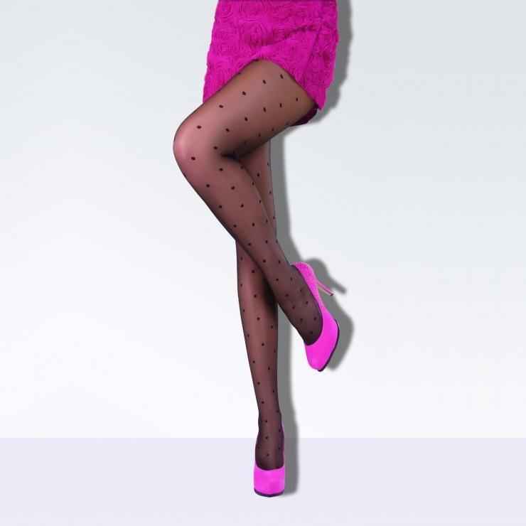 Puanlı Külotlu Çorap 15 Denye Siyah