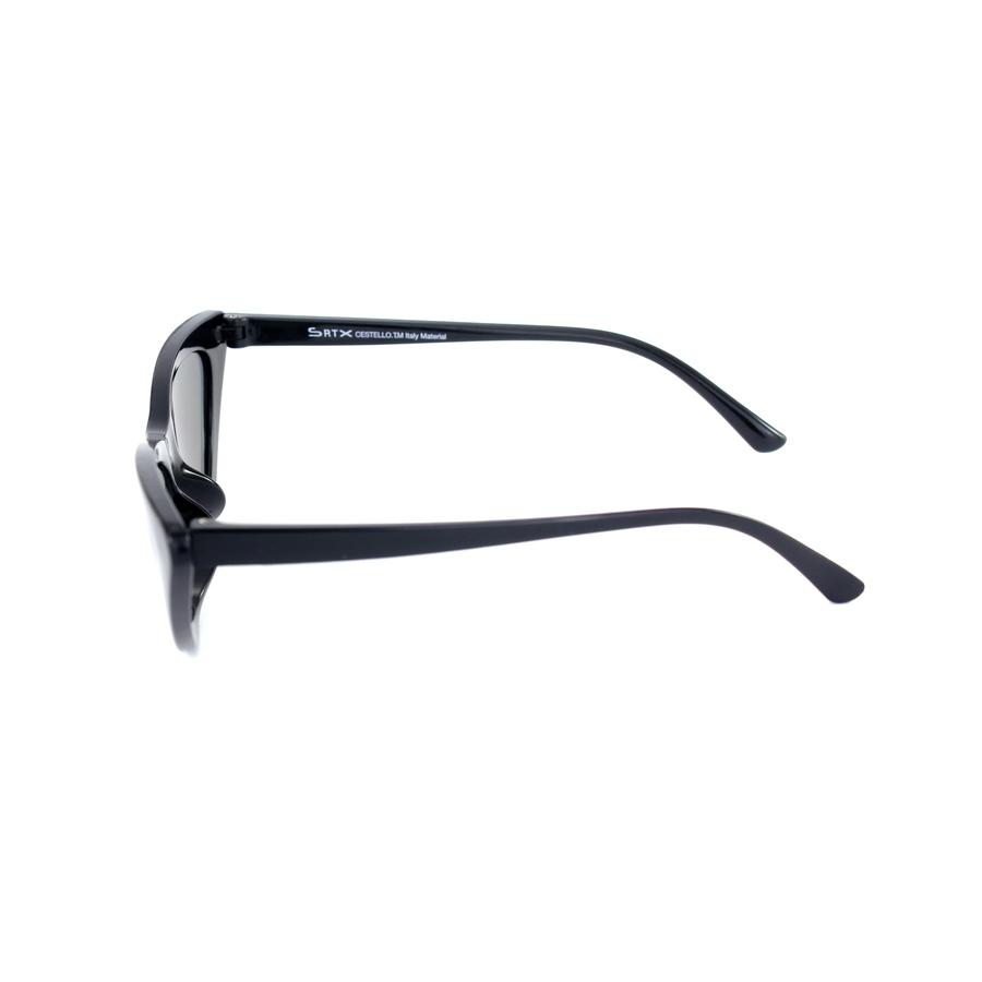 Retro Üçgen Cat Eye Güneş Gözlüğü Aynalı Siyah