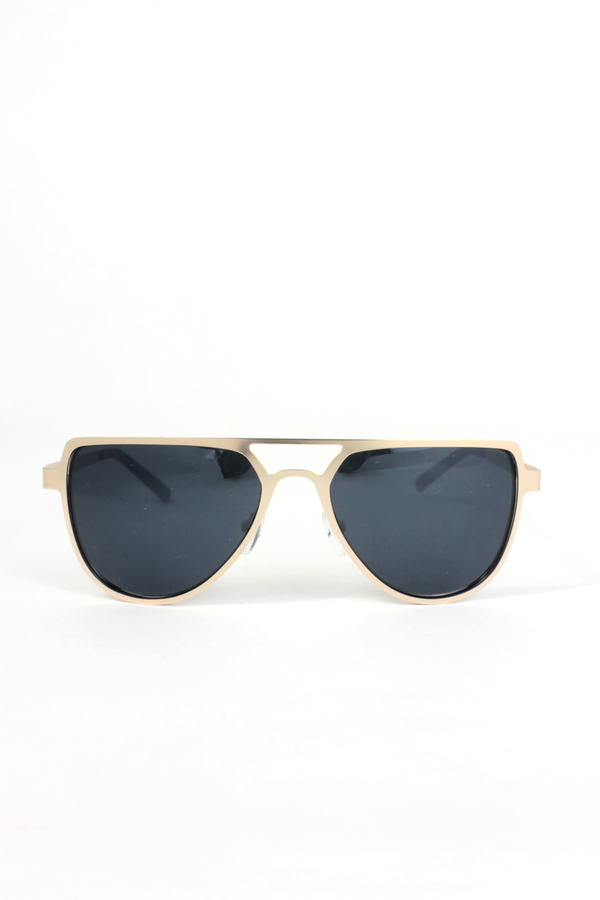 Revaux Gold Metal Çerçeveli Damla Unisex Güneş Gözlüğü Siyah